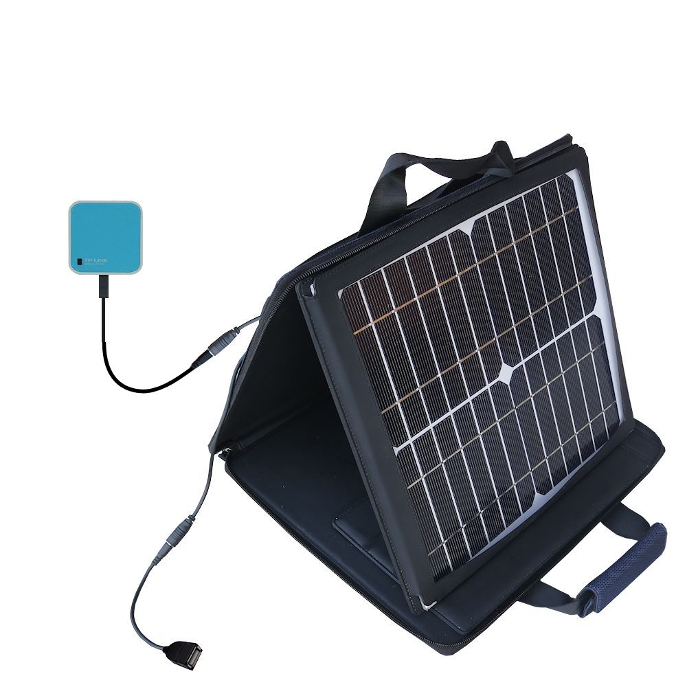 SunVolt Solar Charger compatible with the TP-Link TL-WR703N and one other device - charge from sun at wall outlet-like speed