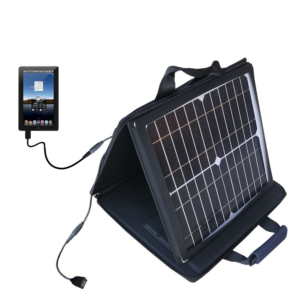 SunVolt Solar Charger compatible with the Tursion TS-510 C93 and one other device - charge from sun at wall outlet-like speed