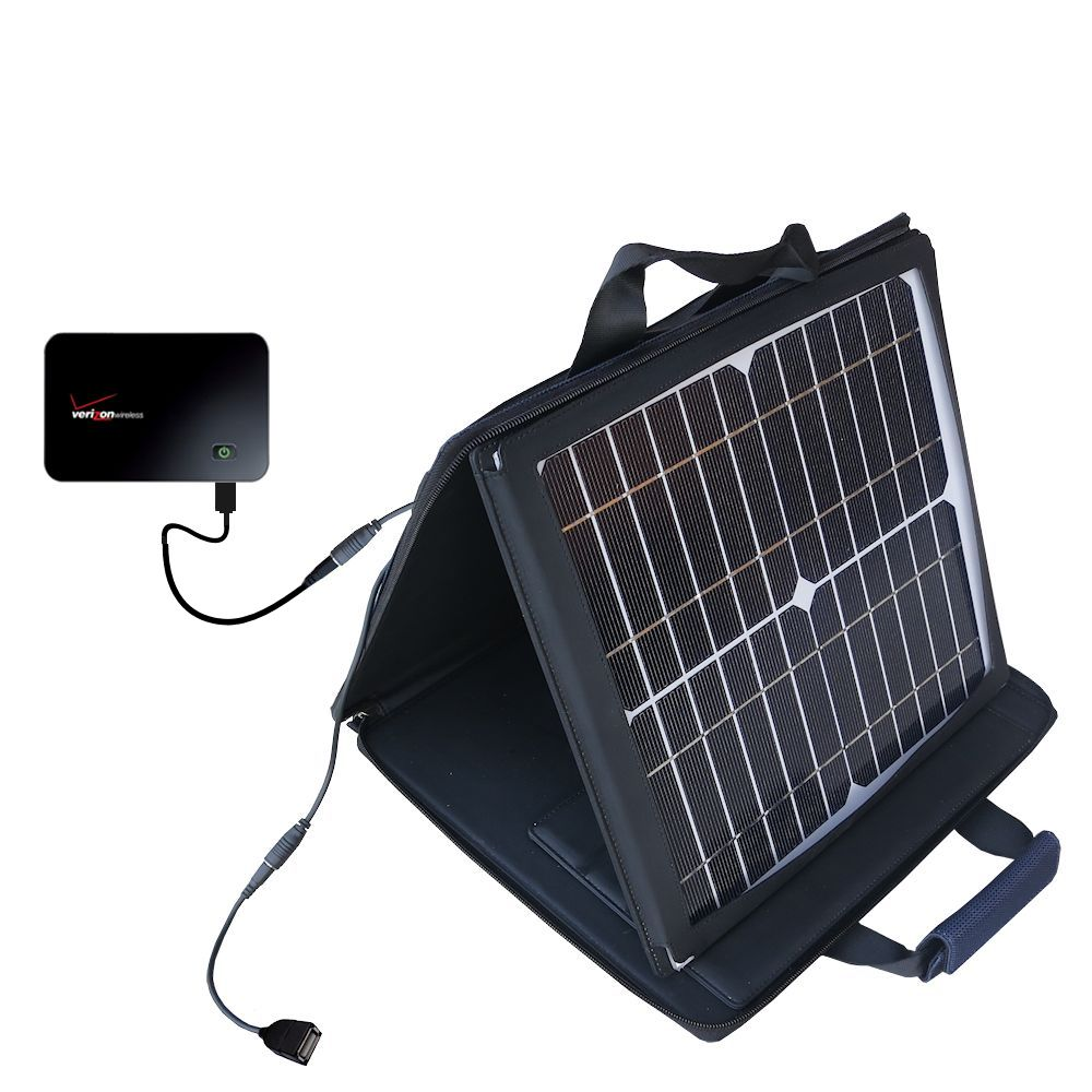 SunVolt Solar Charger compatible with the Verizon MiFi 2200 and one other device - charge from sun at wall outlet-like speed