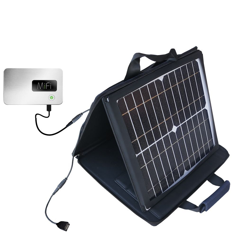 SunVolt Solar Charger compatible with the Walmart Internet on the Go and one other device - charge from sun at wall outlet-like speed