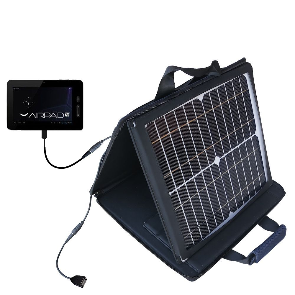 SunVolt Solar Charger compatible with the X10 Airpad 7P and one other device - charge from sun at wall outlet-like speed