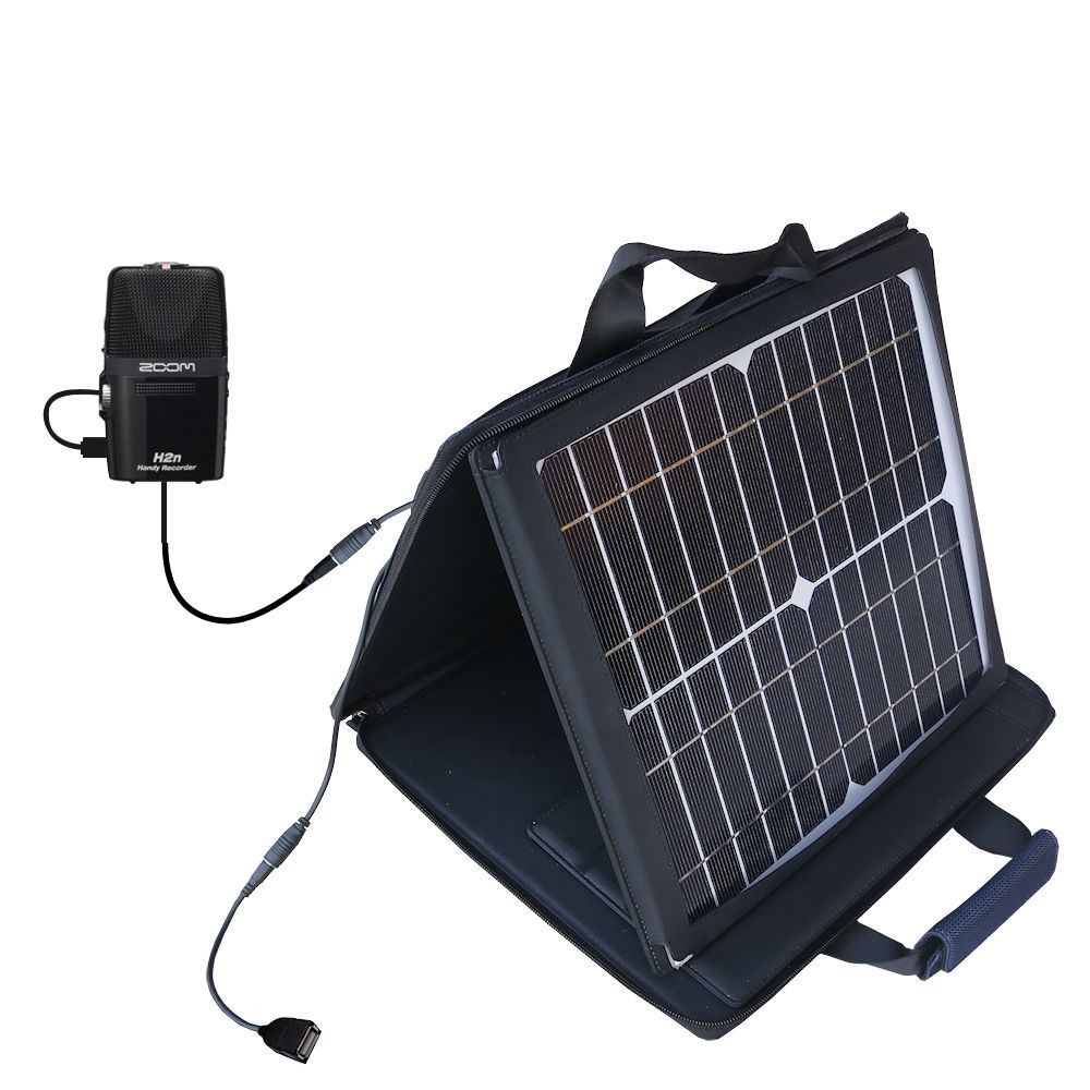 SunVolt Solar Charger compatible with the Zoom H2n and one other device - charge from sun at wall outlet-like speed