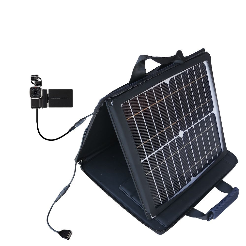 SunVolt Solar Charger compatible with the Zoom Q4 and one other device - charge from sun at wall outlet-like speed
