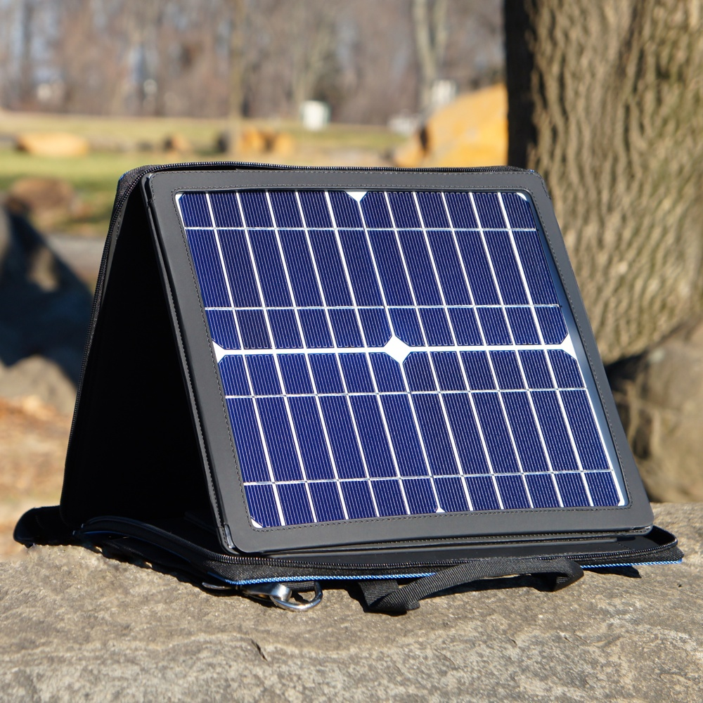 10W Solar Panel with Carrying Case