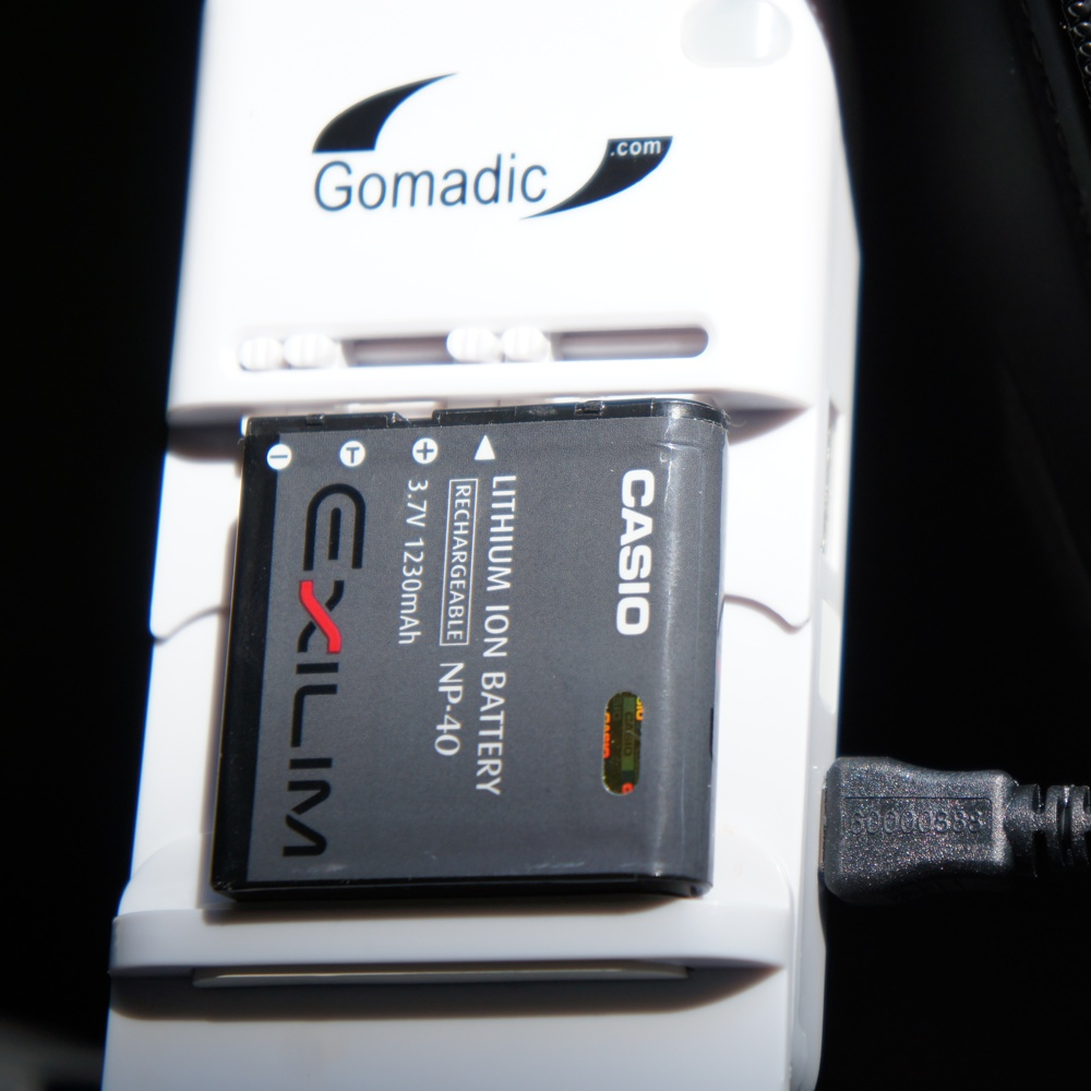 Digital Camera Battery Charger add-on for Gomadic Solar Panels