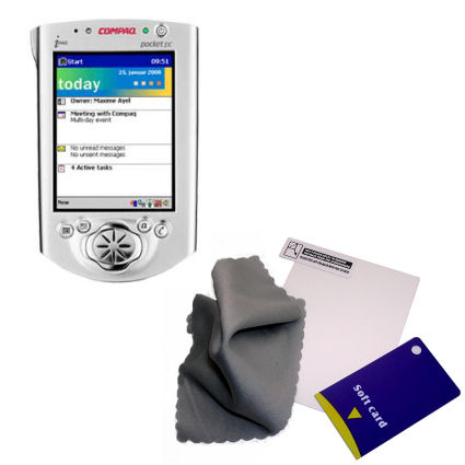 Clear Anti-glare Screen Protector designed for the Compaq iPAQ h3100 Series - Gomadic Brand