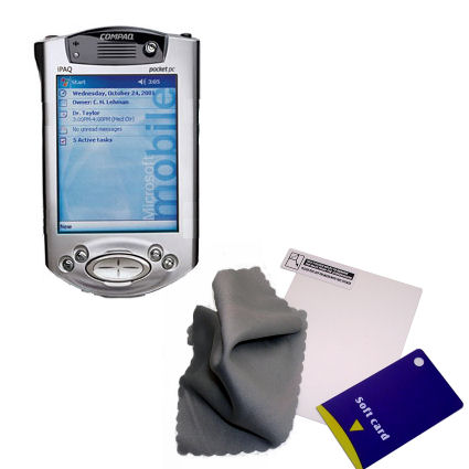 Clear Anti-glare Screen Protector designed for the Compaq iPAQ h3700 Series - Gomadic Brand