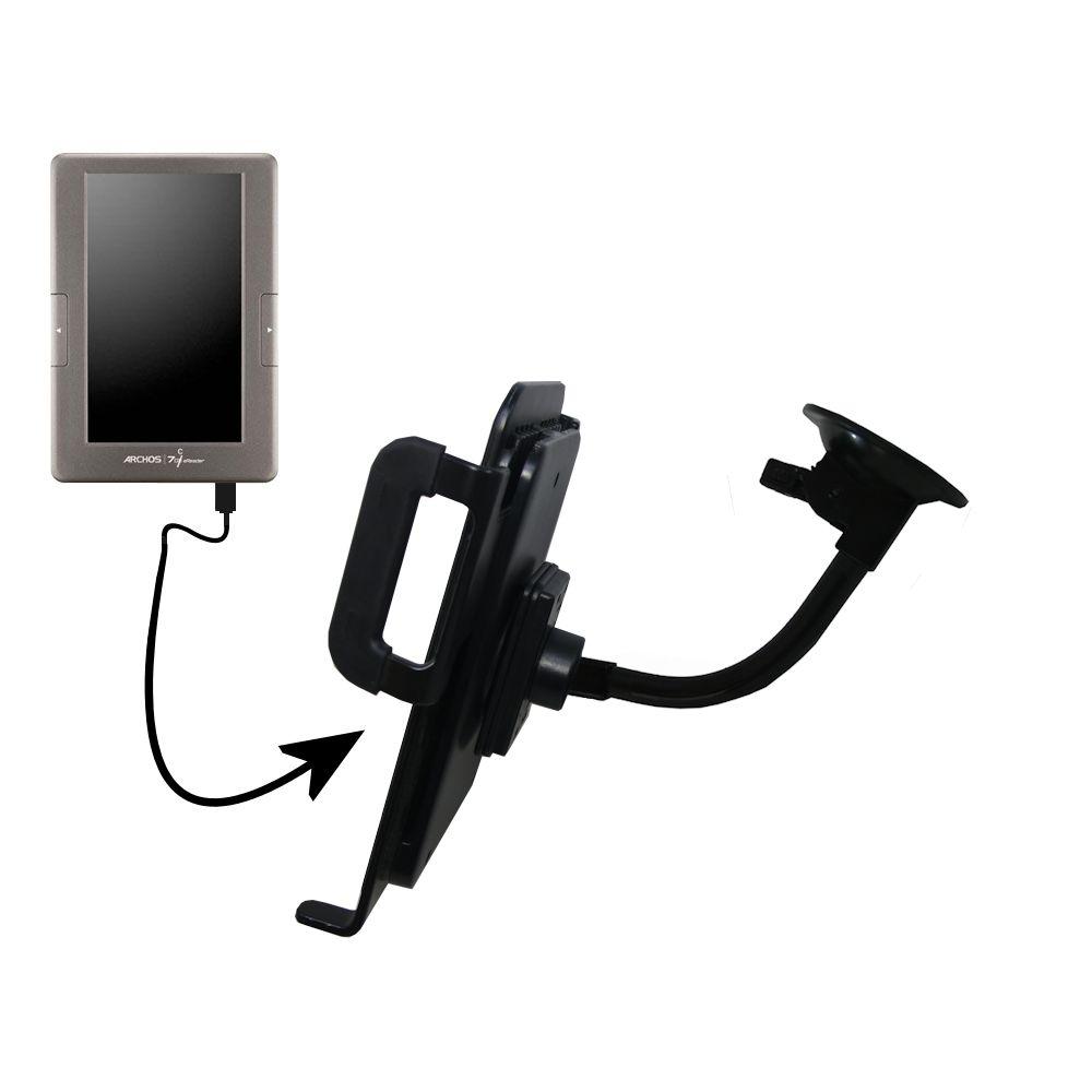 Unique Suction Cup Mount / Holder Stand designed for the Archos 70c eReader Tablet