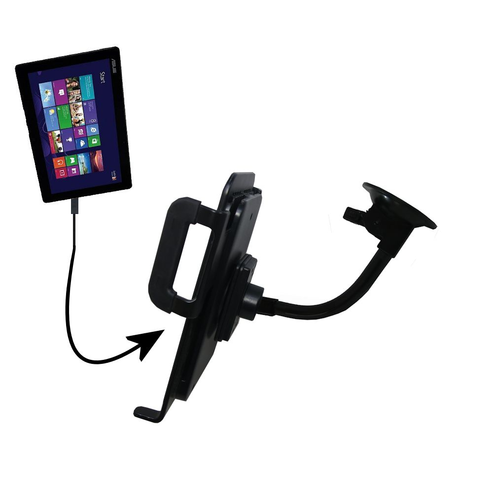 Unique Suction Cup Mount / Holder Stand designed for the Asus Transformer T100 T100TA-H1-GR T100TA-C1-GR Tablet