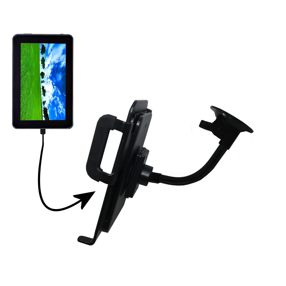 Unique Suction Cup Mount / Holder Stand designed for the Double Power D7020 D7015 7 inch tablet Tablet