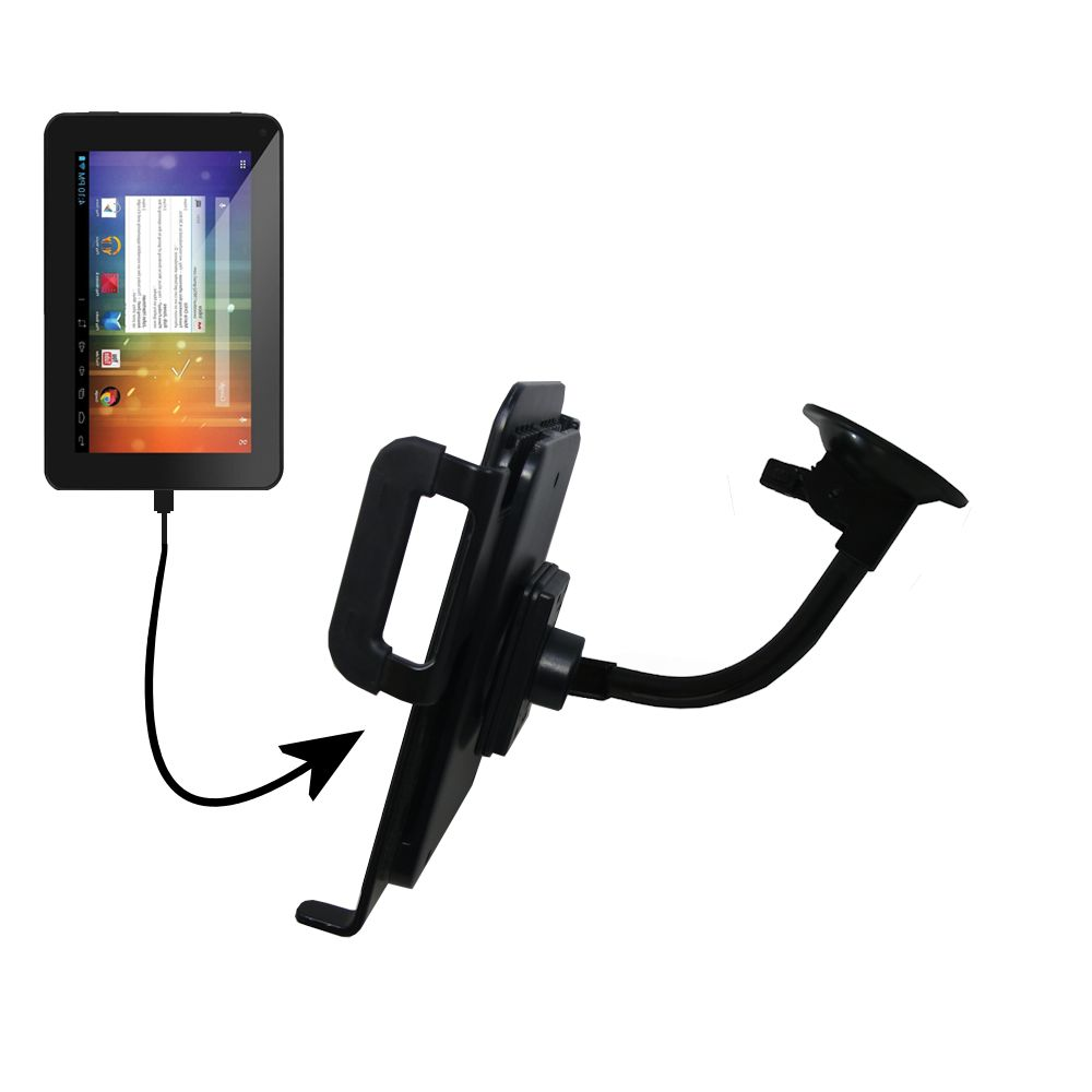 Unique Suction Cup Mount / Holder Stand designed for the Double Power DOPO EM63 7 inch tablet Tablet