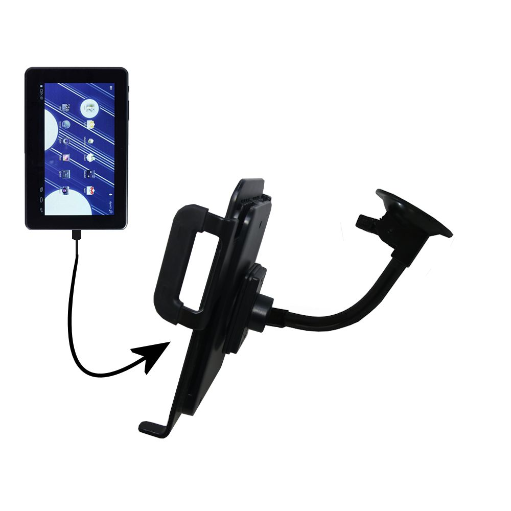 Unique Suction Cup Mount / Holder Stand designed for the Double Power M7088 7 inch tablet Tablet