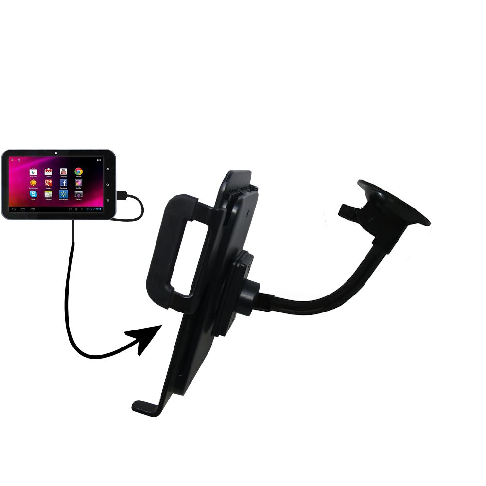 Unique Suction Cup Mount / Holder Stand designed for the HKC 7 Tablet P771A Tablet