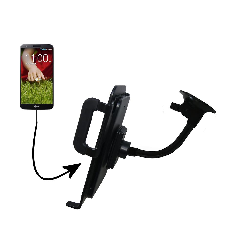 Unique Suction Cup Mount / Holder Stand designed for the LG G Pad Tablet