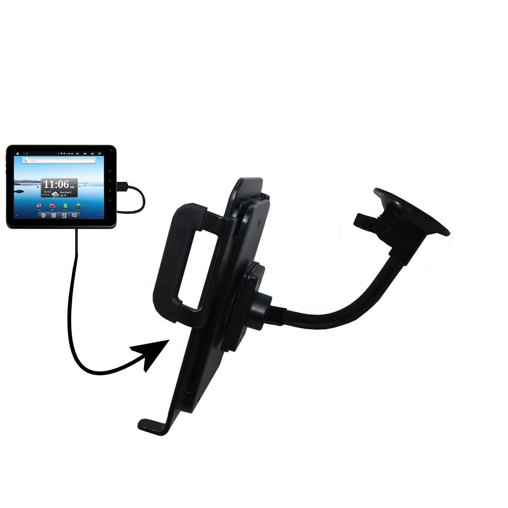 Unique Suction Cup Mount / Holder Stand designed for the Nextbook Premium8 Tablet Tablet