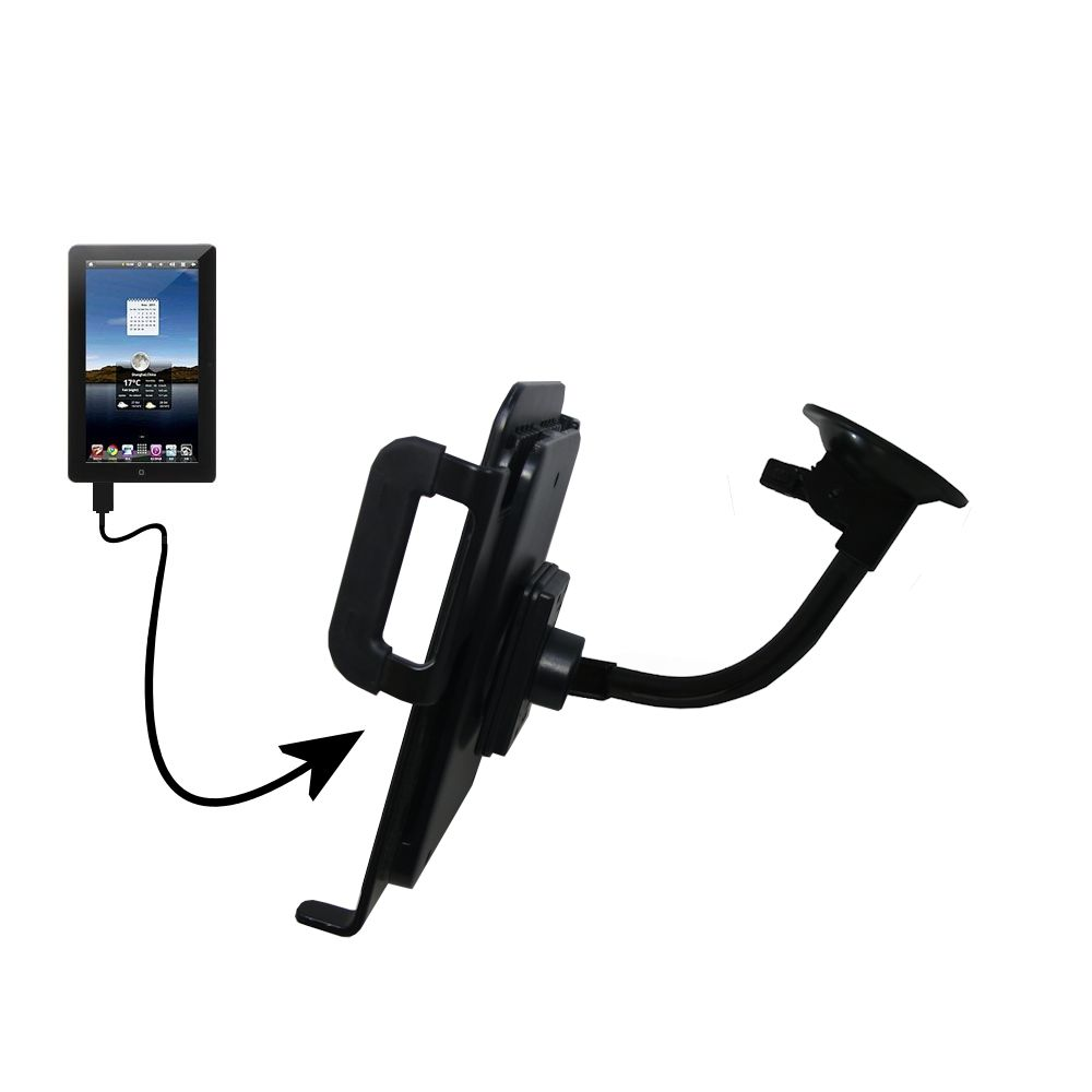 Unique Suction Cup Mount / Holder Stand designed for the Tursion TS-510 C93 Tablet