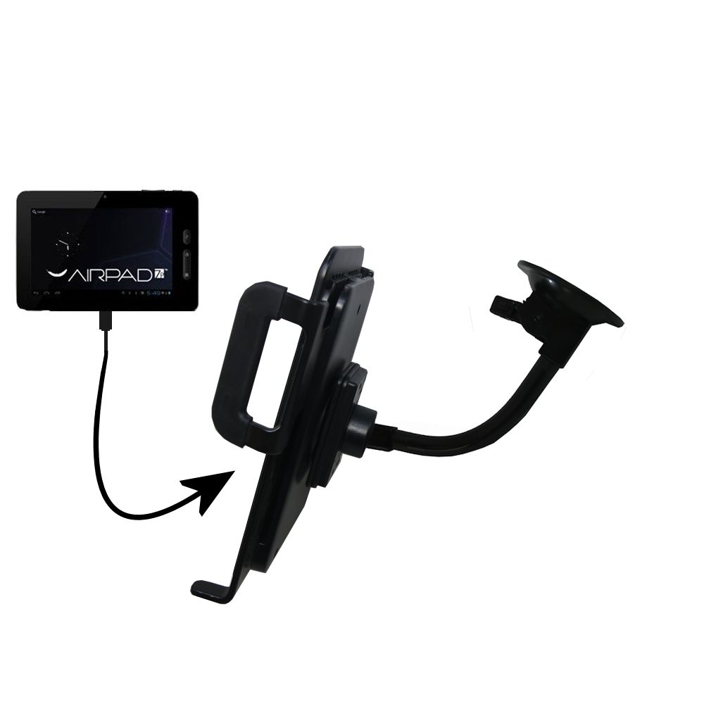 Unique Suction Cup Mount / Holder Stand designed for the X10 Airpad 7P Tablet