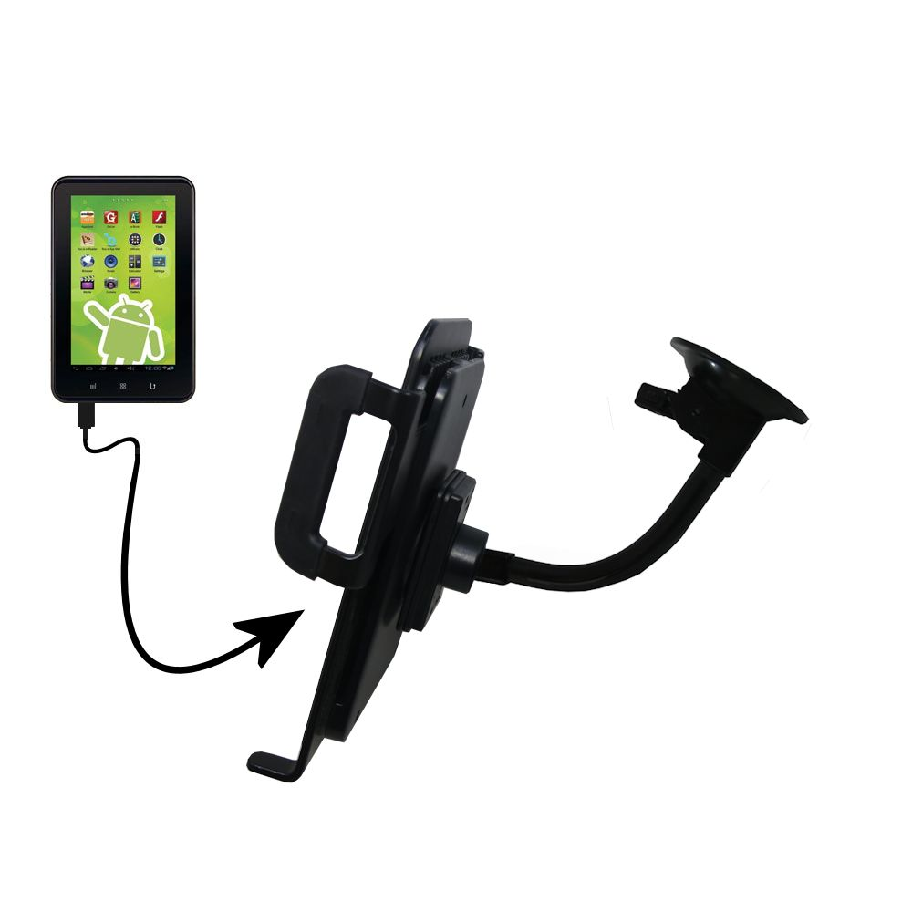Unique Suction Cup Mount / Holder Stand designed for the Zeki 7 Tablet TB782B Tablet