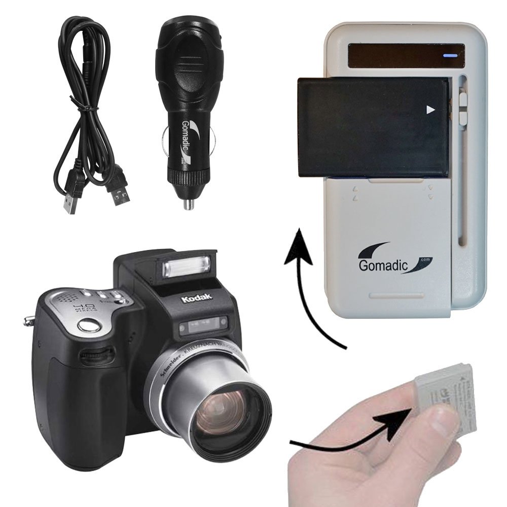 Lithium Battery Fast Charger compatible with the Kodak DX6490
