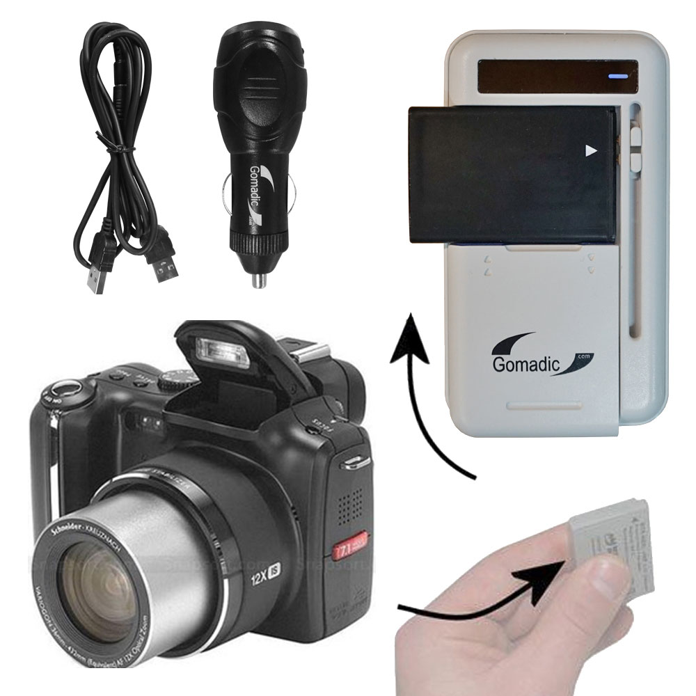 Lithium Battery Fast Charger compatible with the Kodak P712