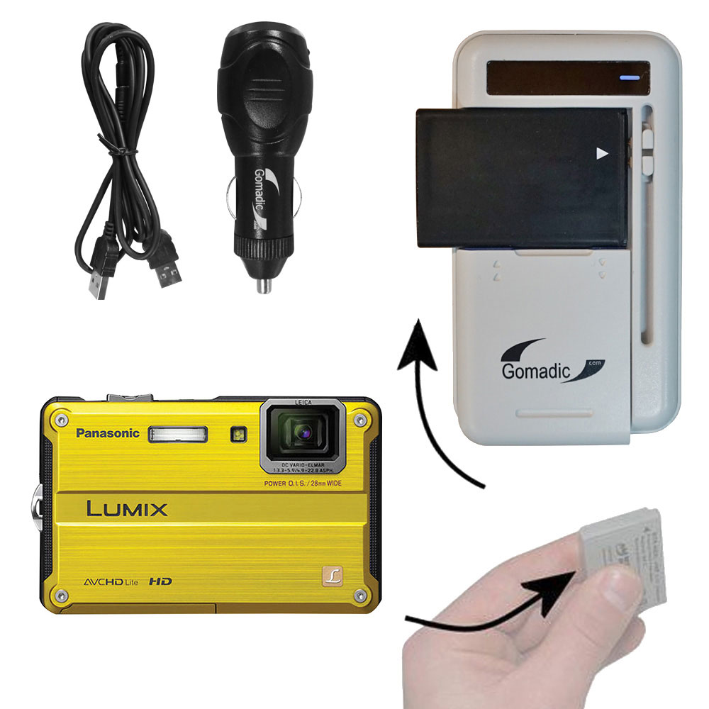 Lithium Battery Fast Charger compatible with the Panasonic DMC-TS2S