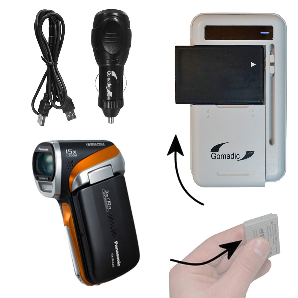 Lithium Battery Fast Charger compatible with the Panasonic HX-WA20