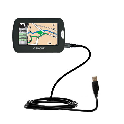 compact and retractable USB Power Port Ready charge cable designed for the Amcor Navigation GPS 4300 4500 and uses TipExchange