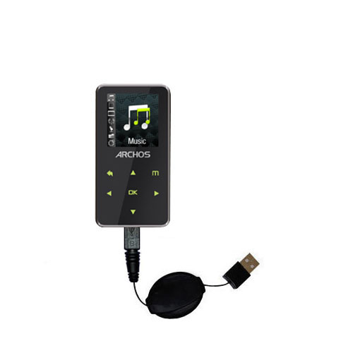 Retractable USB Power Port Ready charger cable designed for the Archos 15 15b Vision A15VS and uses TipExchange