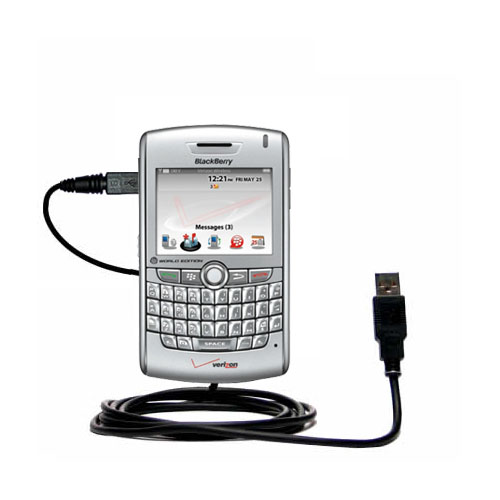 Classic Straight USB Cable Suitable For The Blackberry 8800 8820 8830 With Power Hot Sync And