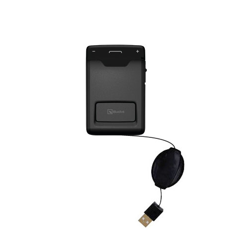 Retractable USB Power Port Ready charger cable designed for the BlueAnt Sense Speakerphone and uses TipExchange