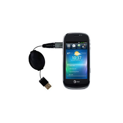 Retractable USB Power Port Ready charger cable designed for the Dell Aero and uses TipExchange