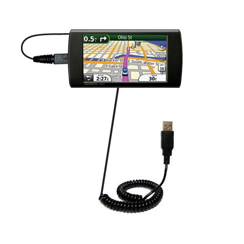 Coiled USB Cable compatible with the Garmin 295W