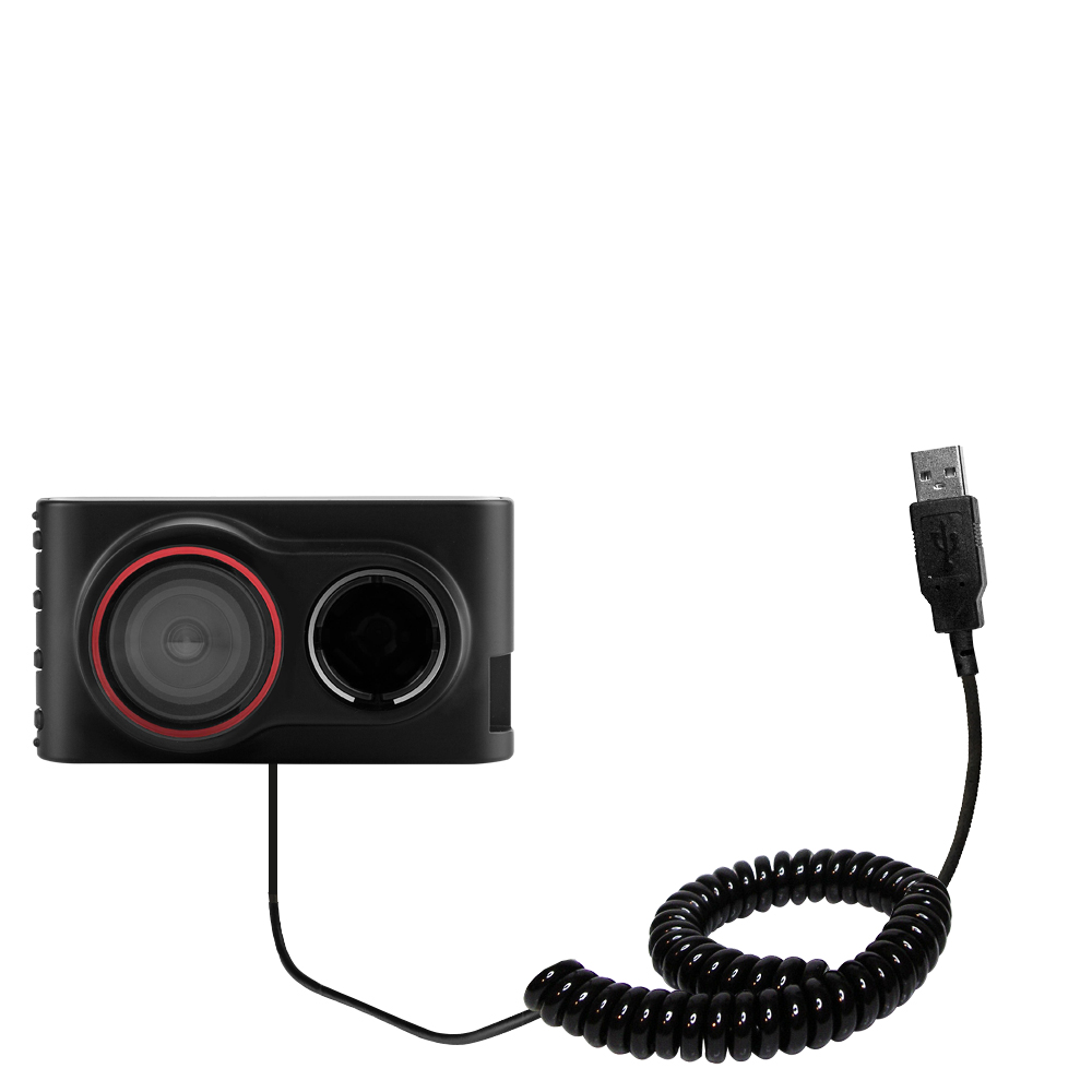 Coiled USB Cable compatible with the Garmin Dash Cam 30 / 35