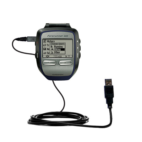 USB Cable compatible with the Garmin Forerunner 205
