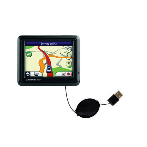 Retractable USB Power Port Ready charger cable designed for the Garmin Nuvi 1210 and uses TipExchange