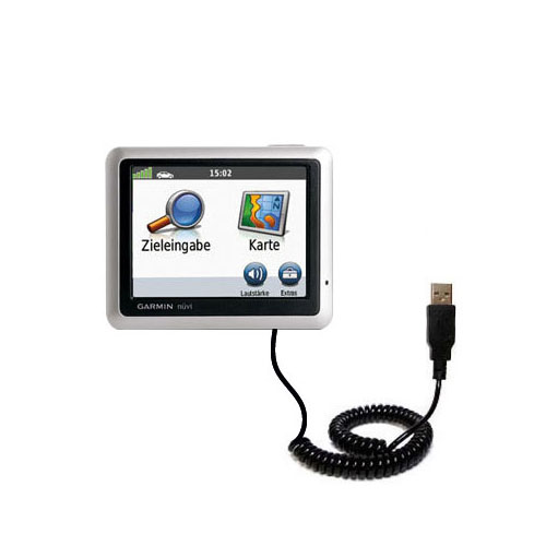 Coiled USB Cable compatible with the Garmin Nuvi 1240