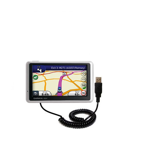 Coiled USB Cable compatible with the Garmin Nuvi 1340