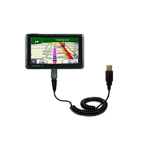 Coiled USB Cable compatible with the Garmin Nuvi 1370T