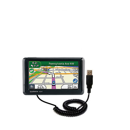 Coiled USB Cable compatible with the Garmin Nuvi 1370Tpro