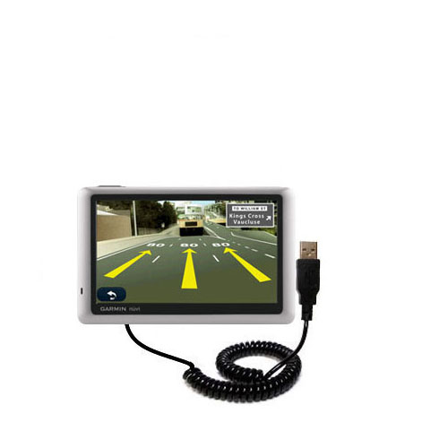 Coiled USB Cable compatible with the Garmin Nuvi 1450T