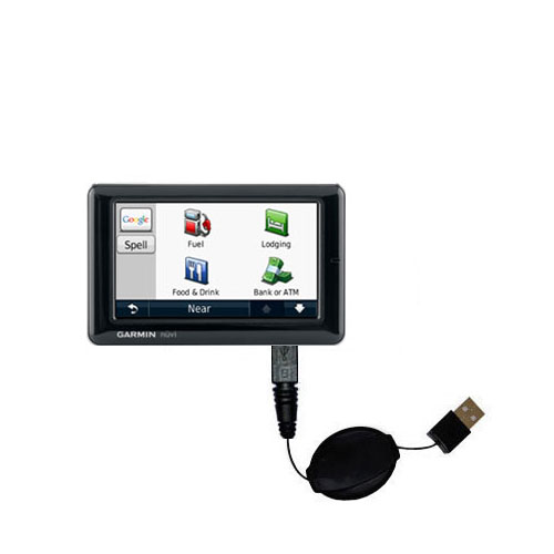 Retractable USB Power Port Ready charger cable designed for the Garmin Nuvi 1690 1695 and uses TipExchange