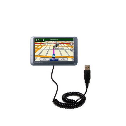 Coiled USB Cable compatible with the Garmin nuvi 205WT