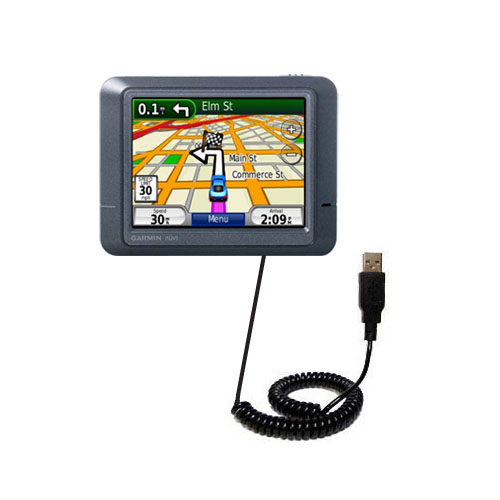 Coiled USB Cable compatible with the Garmin Nuvi 215