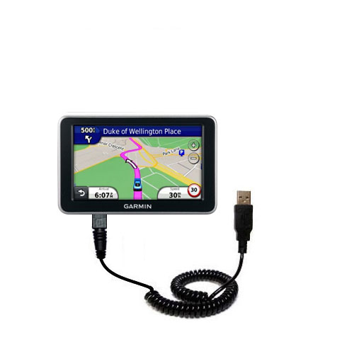 Coiled USB Cable compatible with the Garmin Nuvi 2310