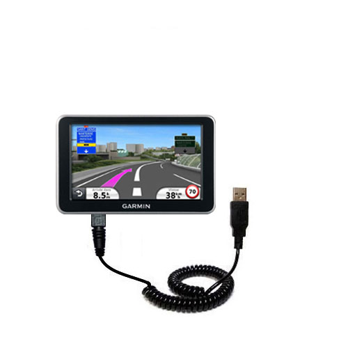 Coiled USB Cable compatible with the Garmin Nuvi 2340 2350 2360 2360LMT 2370 2370LT