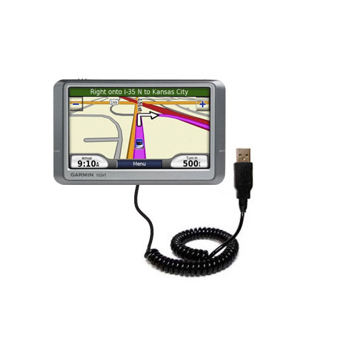 Coiled USB Cable compatible with the Garmin Nuvi 260W 260