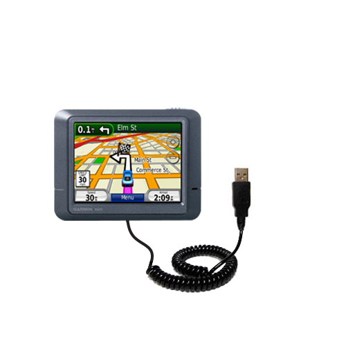Coiled USB Cable compatible with the Garmin Nuvi 265T