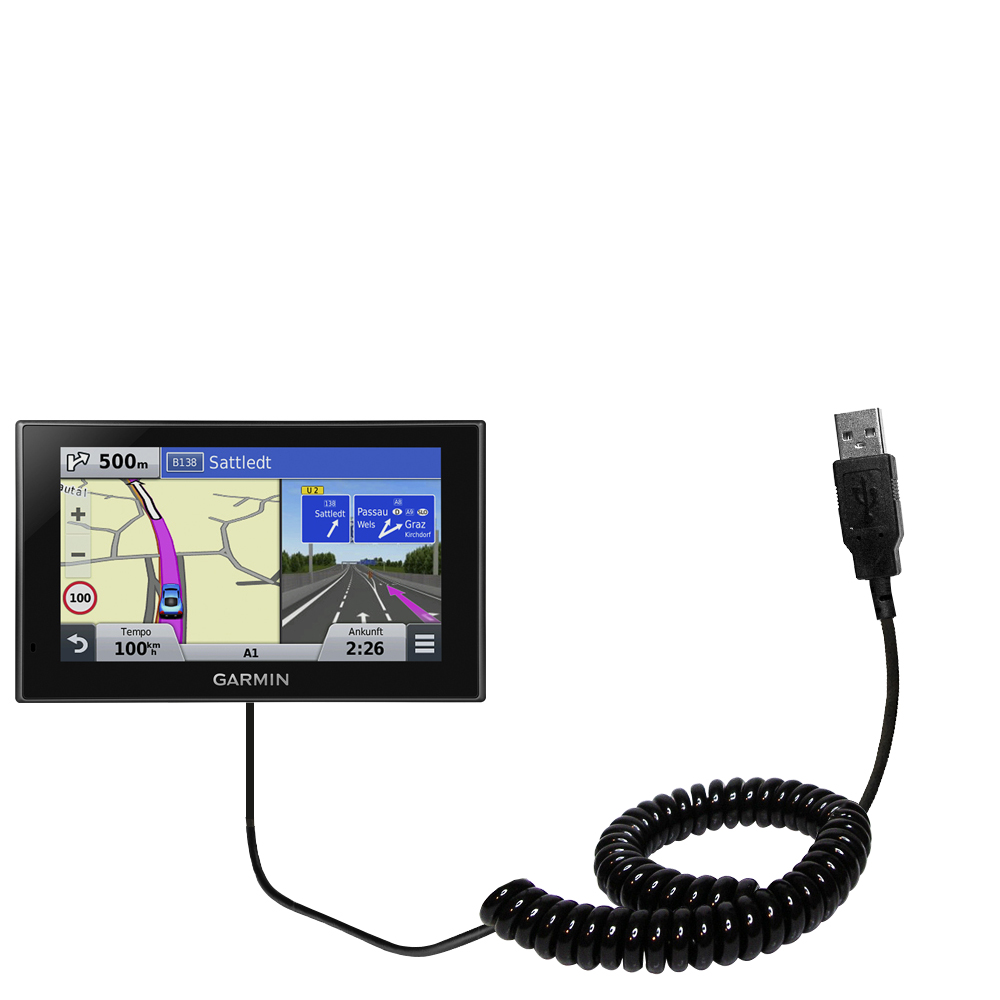 Coiled USB Cable compatible with the Garmin nuvi 2789 LMT