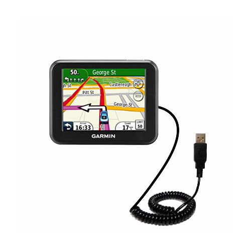 Coiled USB Cable compatible with the Garmin Nuvi 30