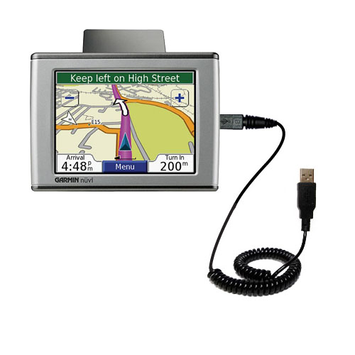 Coiled USB Cable compatible with the Garmin Nuvi 350